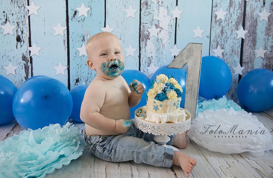sesja na roczek z tortem – smash cake na śląsku :)